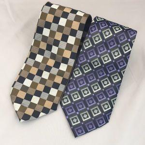 Bergamo New York Accessories - Bergamo New York Men's Tie Lot of 2